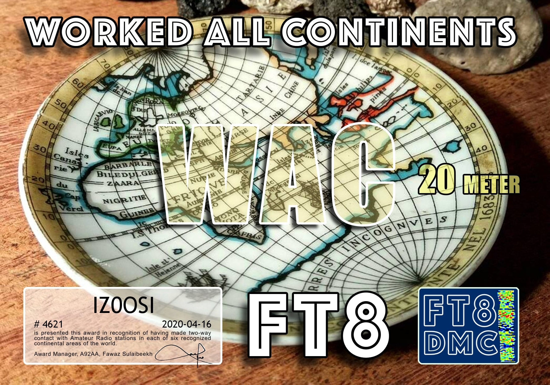 IZ0OSI-WAC-20M_FT8DMC
